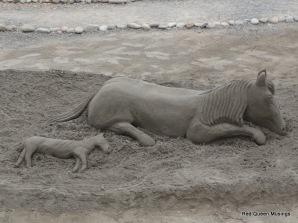 sand sculptures, Los Cristianos,Tenerife