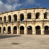 Nimes-Daytrip-from-Carcassonne-5-Arena-outside